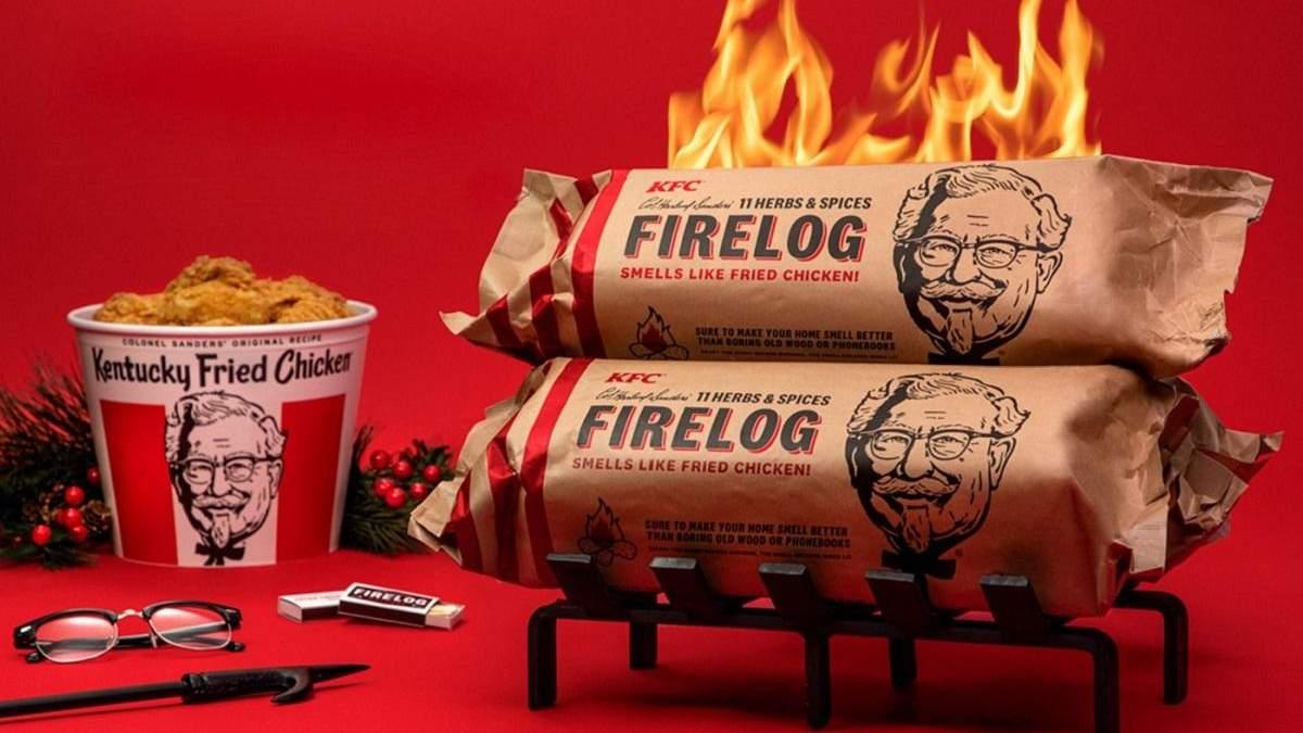KFC выпустила дрова с запахом жареных куриных крылышек