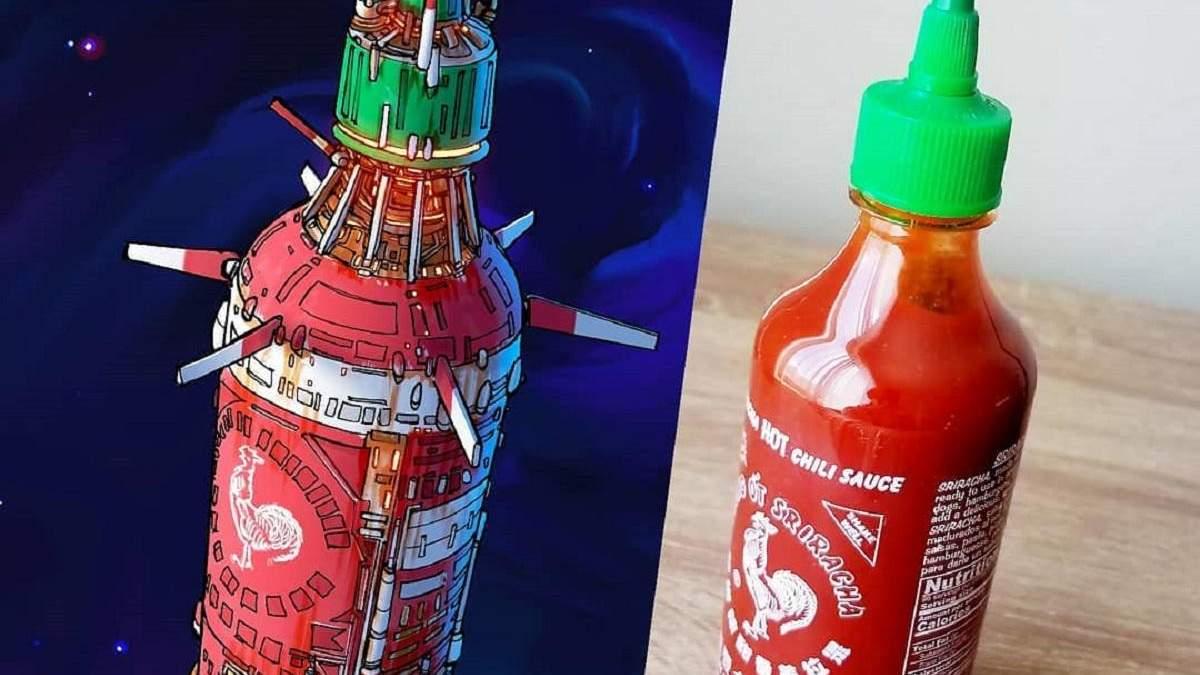 Художник превращает обычные предметы в модели космических кораблей: фото до и после