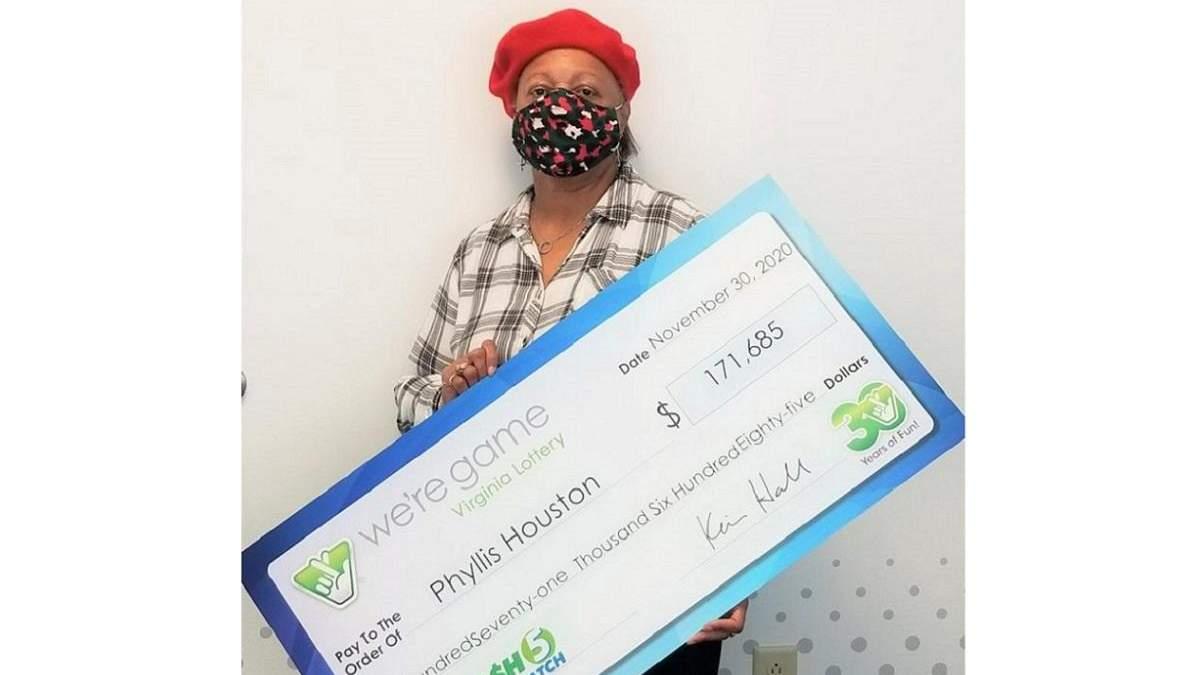 Жительница Йорктауна, штат Вирджиния, США с выигрышем в размере 171 685 долларов