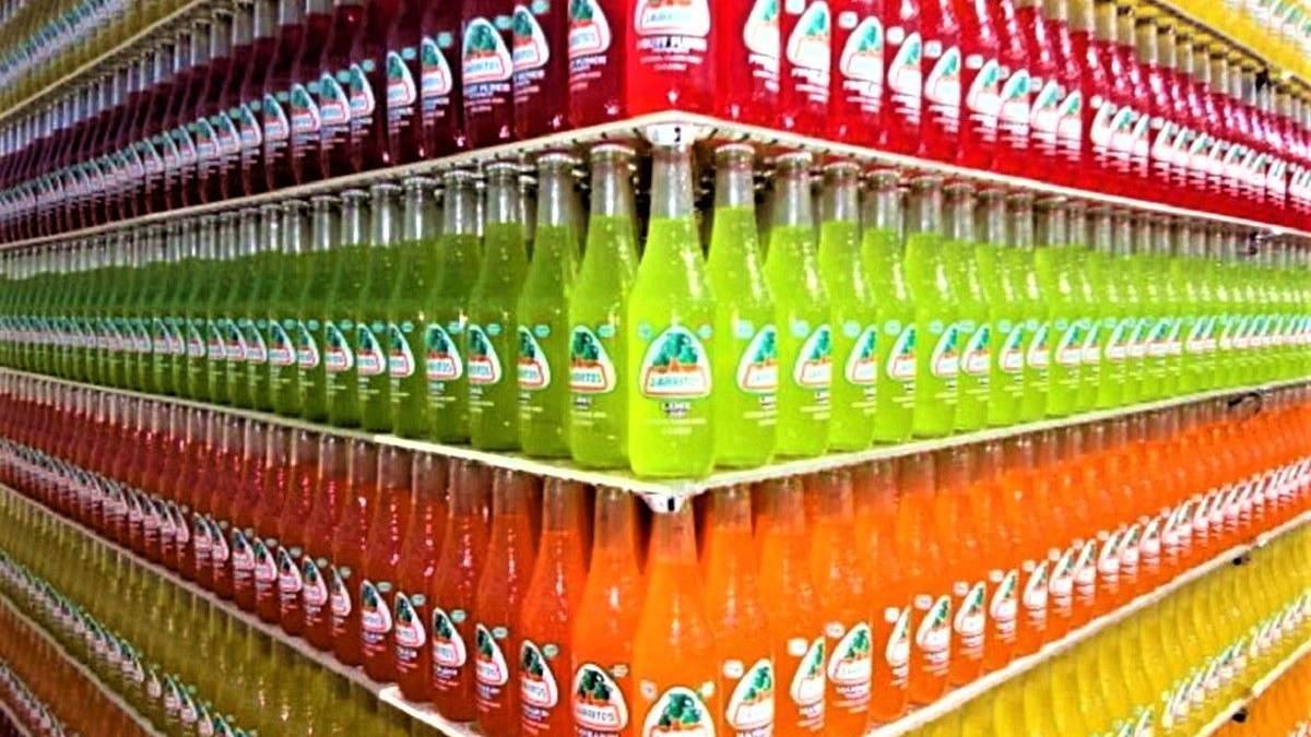 Ідеально розставлені пляшки