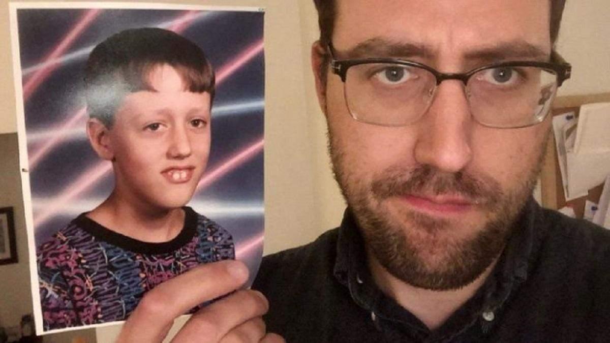 Ученый почти через 28 лет узнал, что его детское фото все это время было мемом