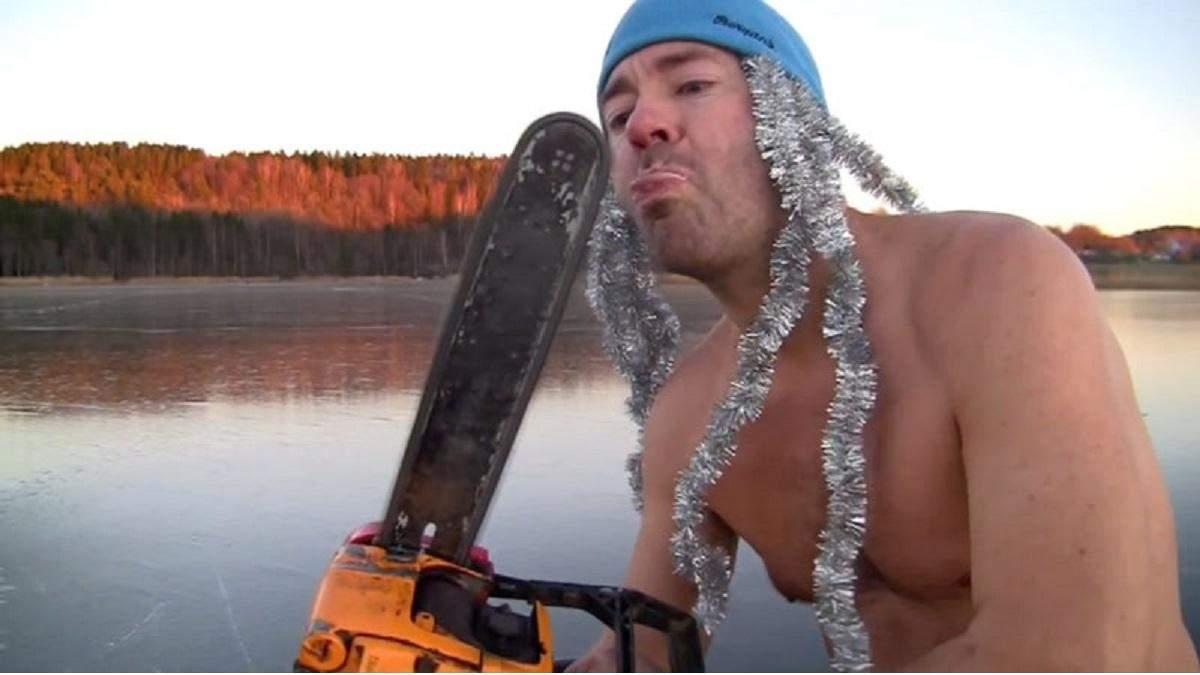 Самое рождественское видео 2020: поздравление от норвежского моржа алкоэкстремала Тора Экхоффа