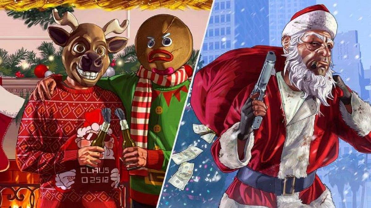 Зимовий Лос-Сантос: в GTA випав сніг і дарують різдвяні подарунки – скриншоти