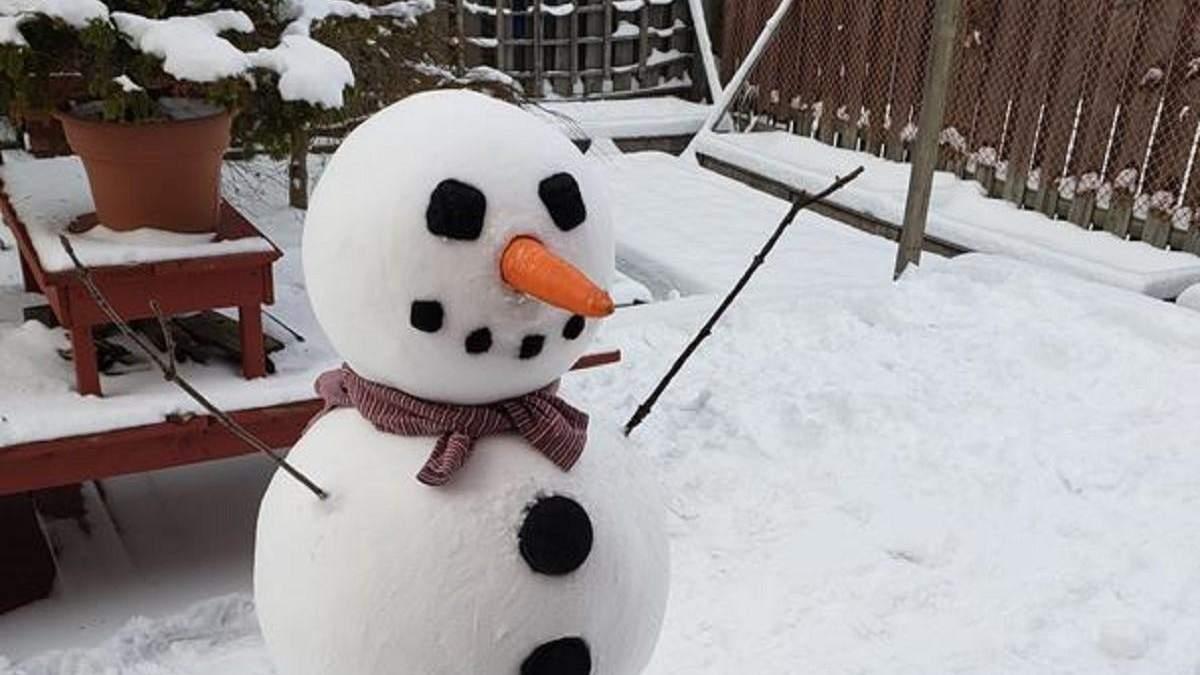 Зимові розваги перфекціоністів: дівчина зліпила ідеального сніговика і підкорила мережу