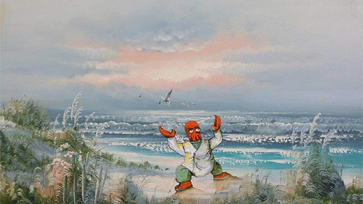 Художник скуповує невідомі картини та вписує туди найнесподіваніших персонажів