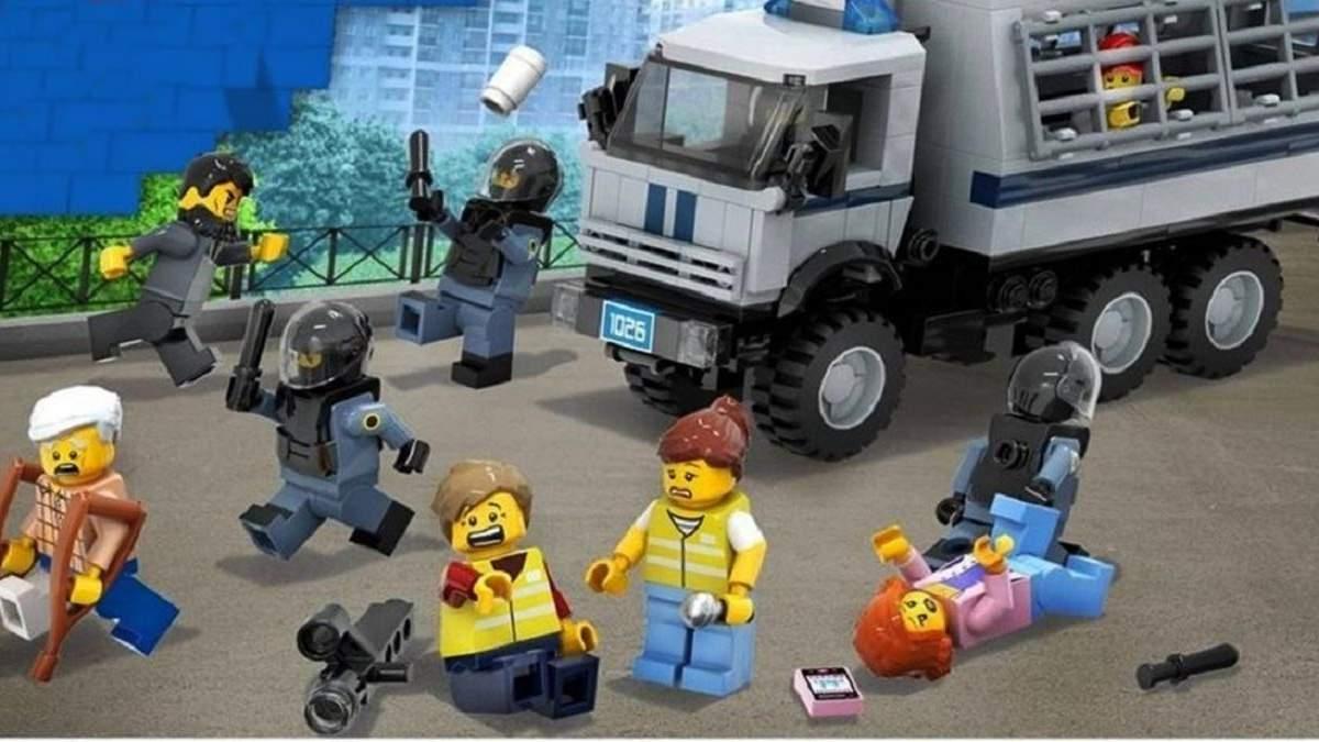 Художник создал конструктор Lego, посвященный протестам в России: как он выглядит – фото
