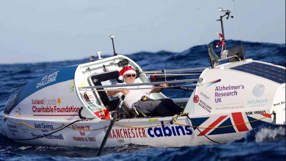 70-річний британець самостійно перетнув Атлантичний океан на човні