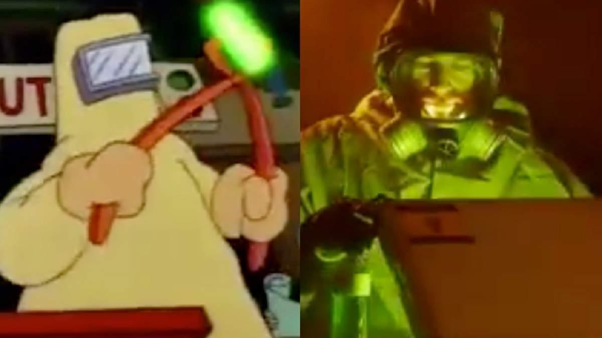 Комик воспроизвел вводную часть Симпсонов из стоковых видео