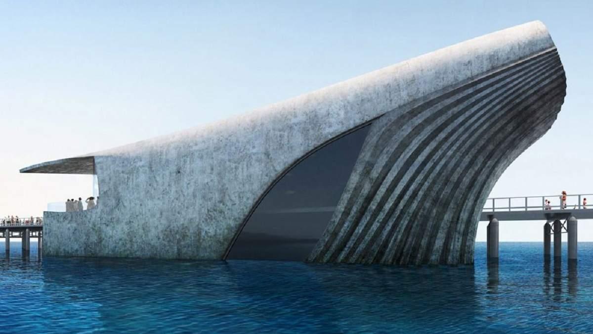 В Австралії побудують частково підводну морську обсерваторію у вигляді величезного кита: фото