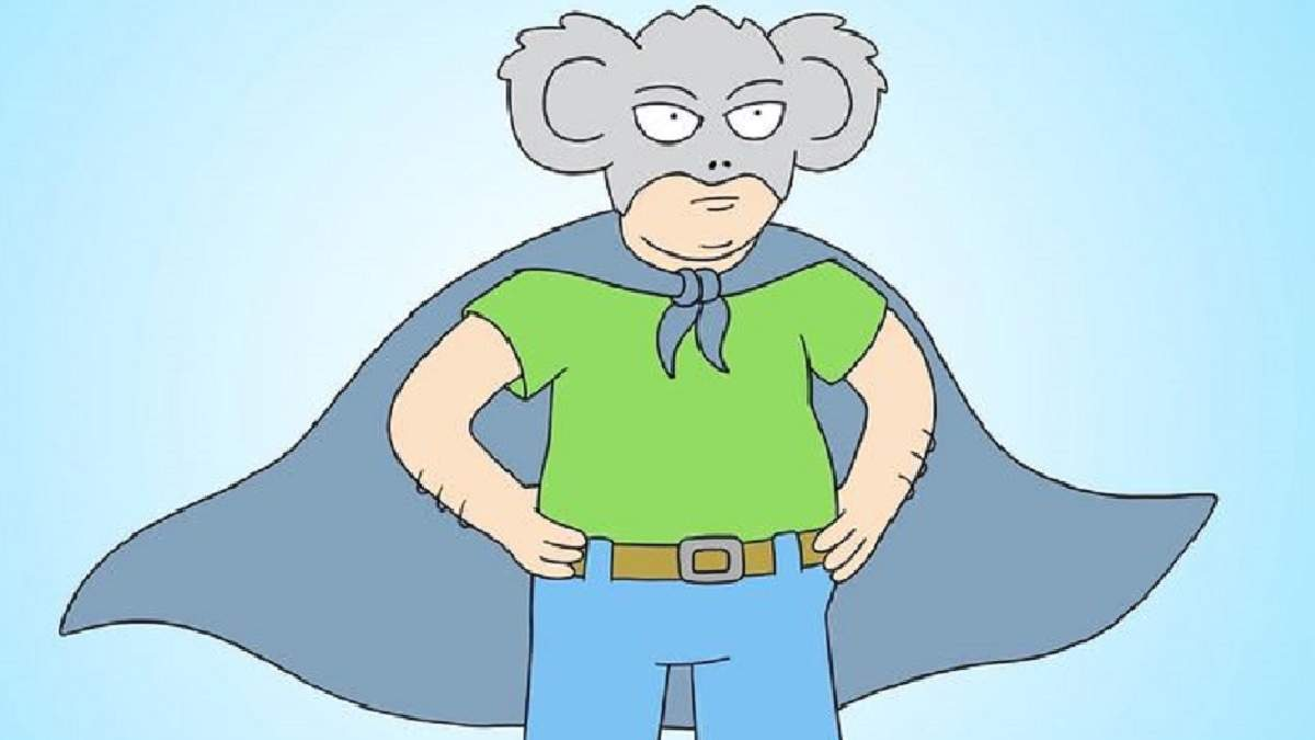 Мультсериал про мужика в костюме коалы