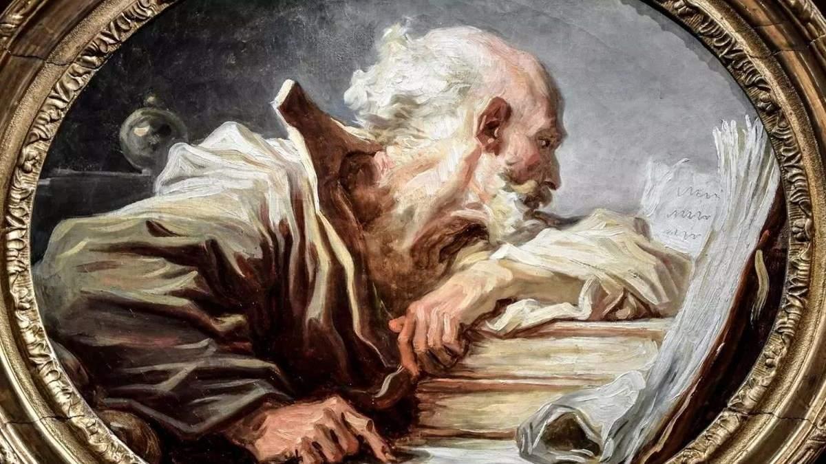 Читающий философ Фрагонар