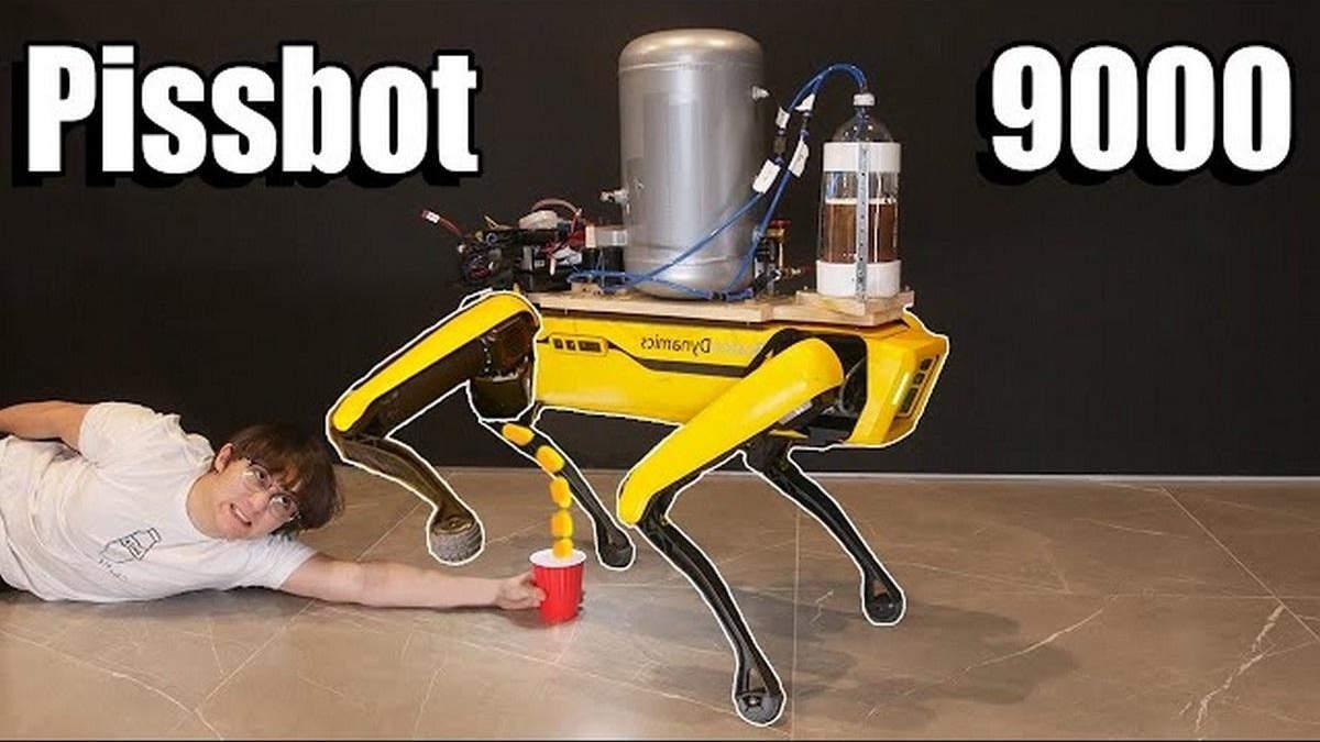 """Робота-собаку Boston Dynamics научили """"мочиться"""" пивом"""