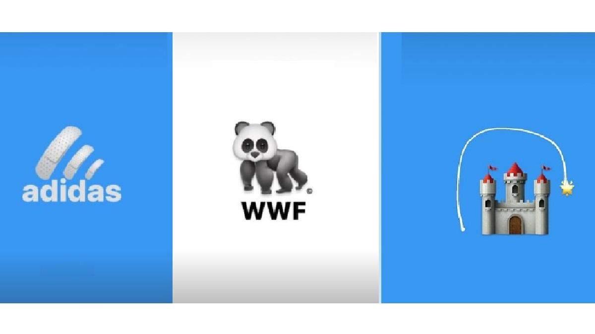 Украинский дизайнер воссоздал популярные логотипы с эмодзи и запустил флешмоб