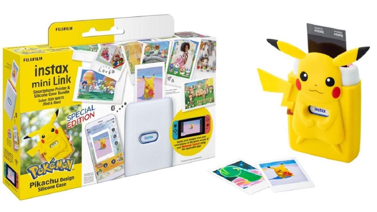 Fujifilm представила мини-принтер для Nintendo Switch с чехлом Пикачу