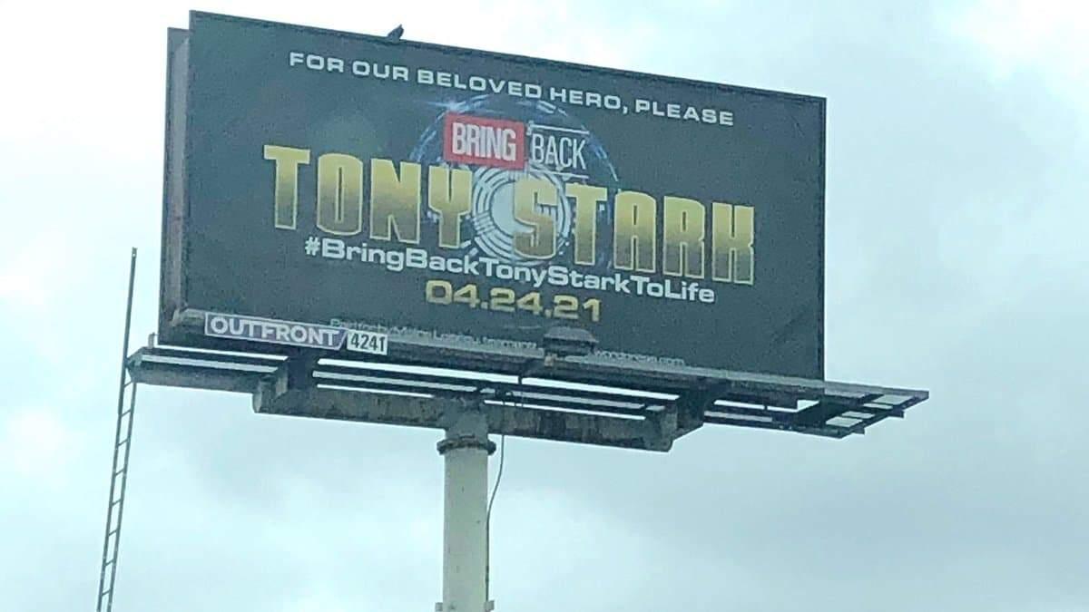 Верните Тони Старка: фанаты арендовали рекламный щит и обратились к студии Marvel
