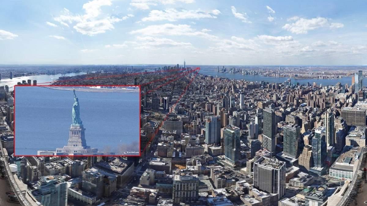 Компанія EarthCam  опублікувала найдетальніше фото Нью-Йорка: розширення – 120 гігапікселів
