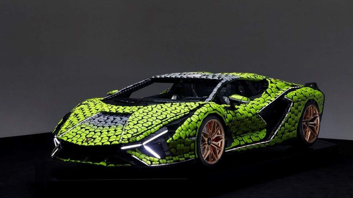 Lamborghini Sian FKP 37 з Lego у масштабі 1:1