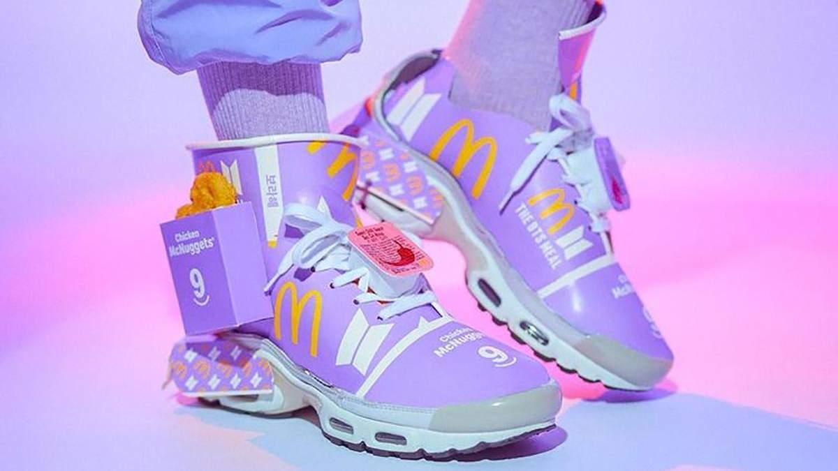 Австралиец сделал стильные кроссовки из бумажных коробок BTS Meal от Mcdonald'S
