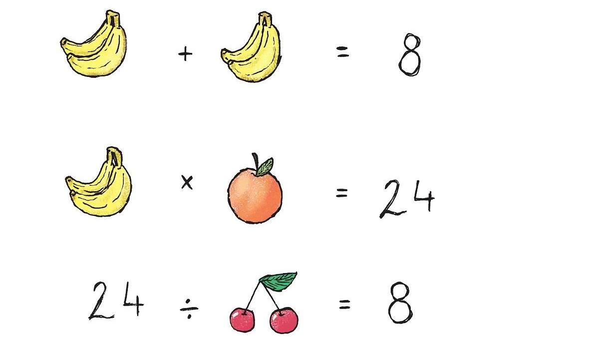 Головоломка недели: сможете ли вы решить детскую задачу с фруктами