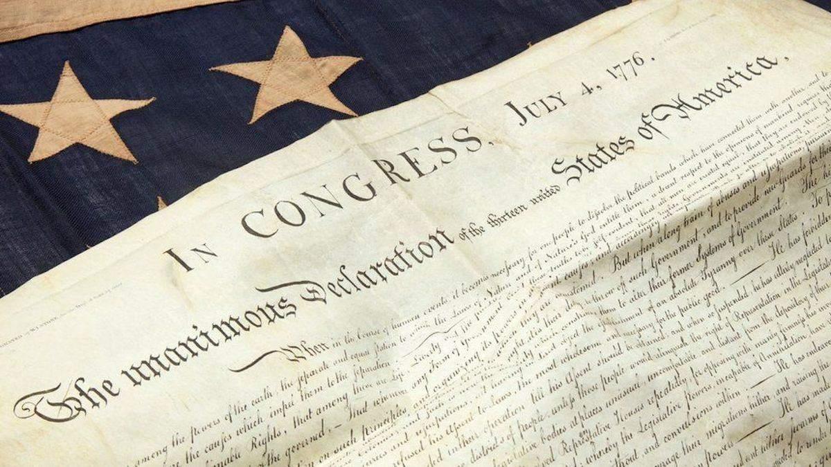 Женщина нашла копию Декларации независимости США