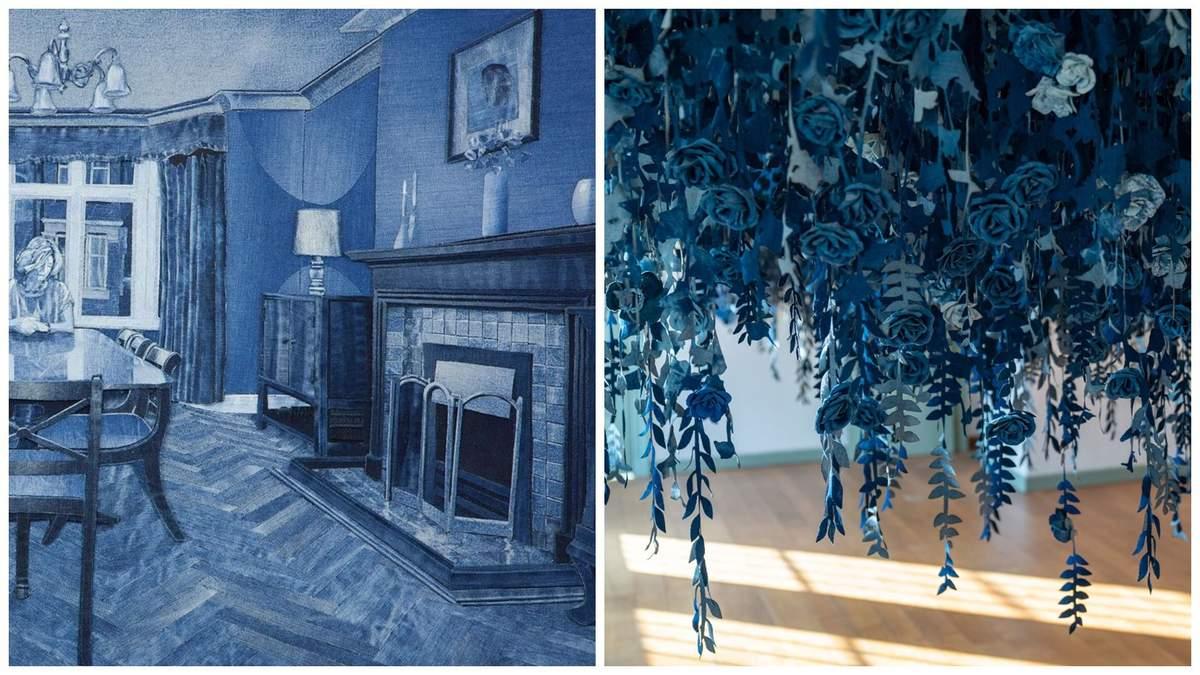 Британський художник створює з джинсу неймовірні твори мистецтва