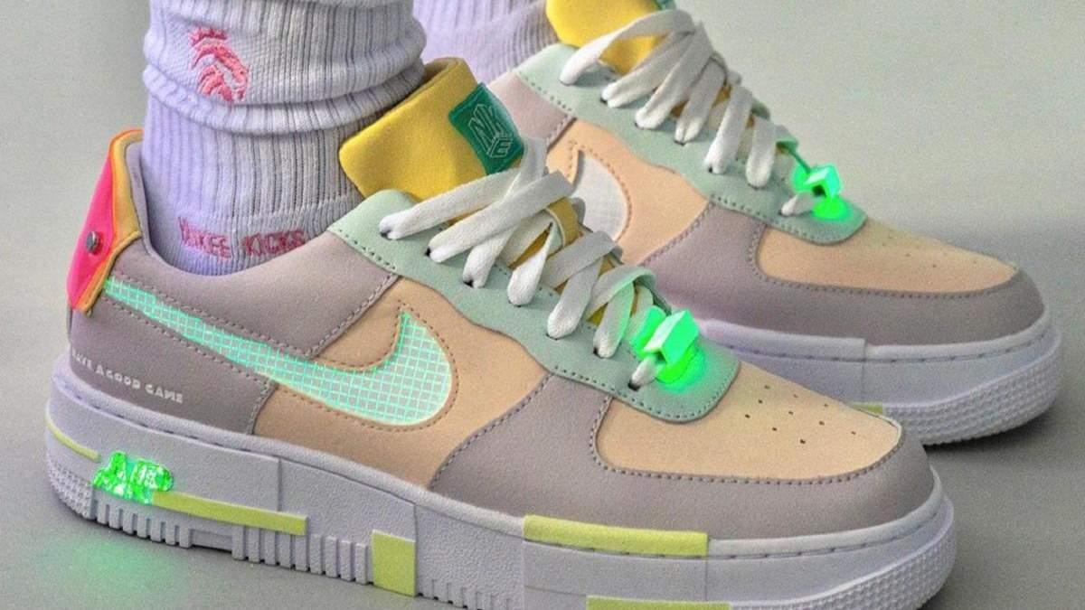 Для поклонников видеоигр: Nike выпустит кроссовки Air Force 1 со светящимися элементами