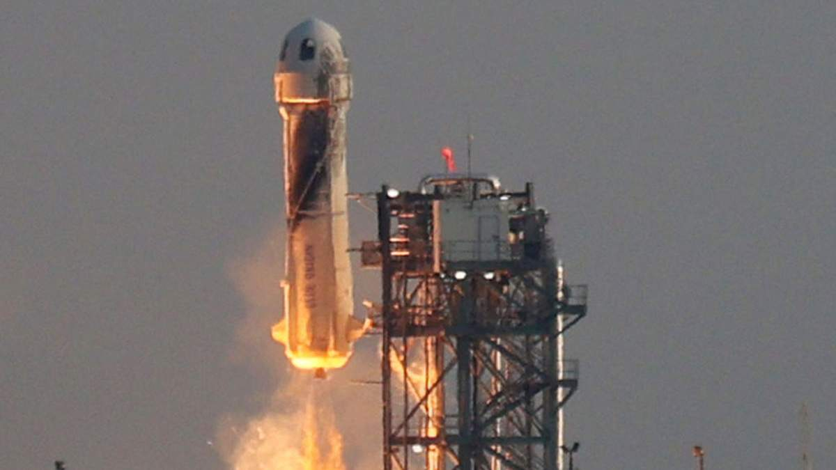 Полет ракеты New Shepard