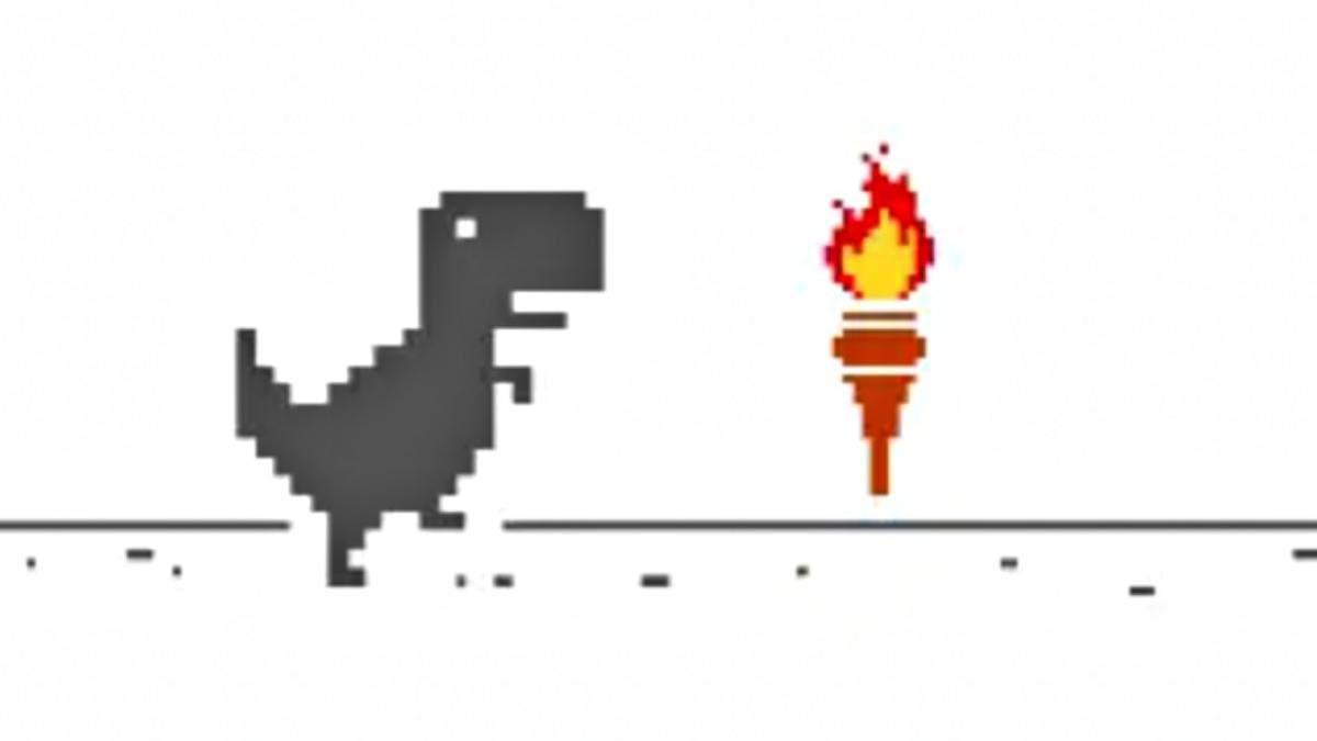 Dinosaur Game обновили к Олимпийским играм
