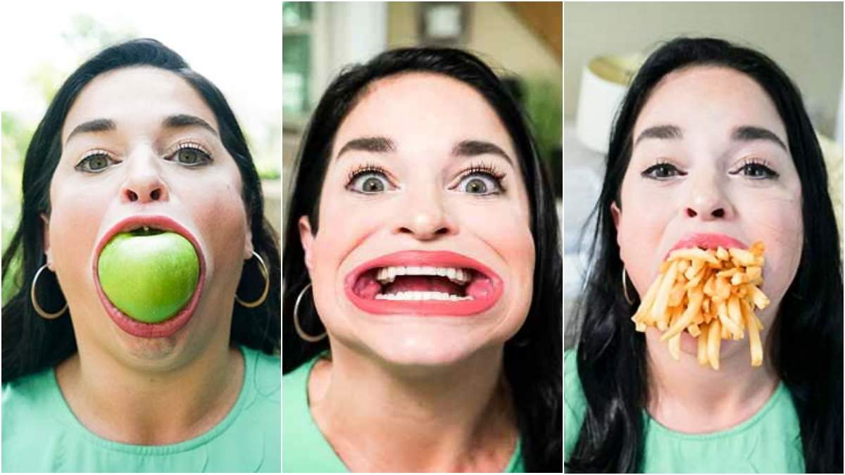 Саманта Рамсделл с самым большим в мире ртом