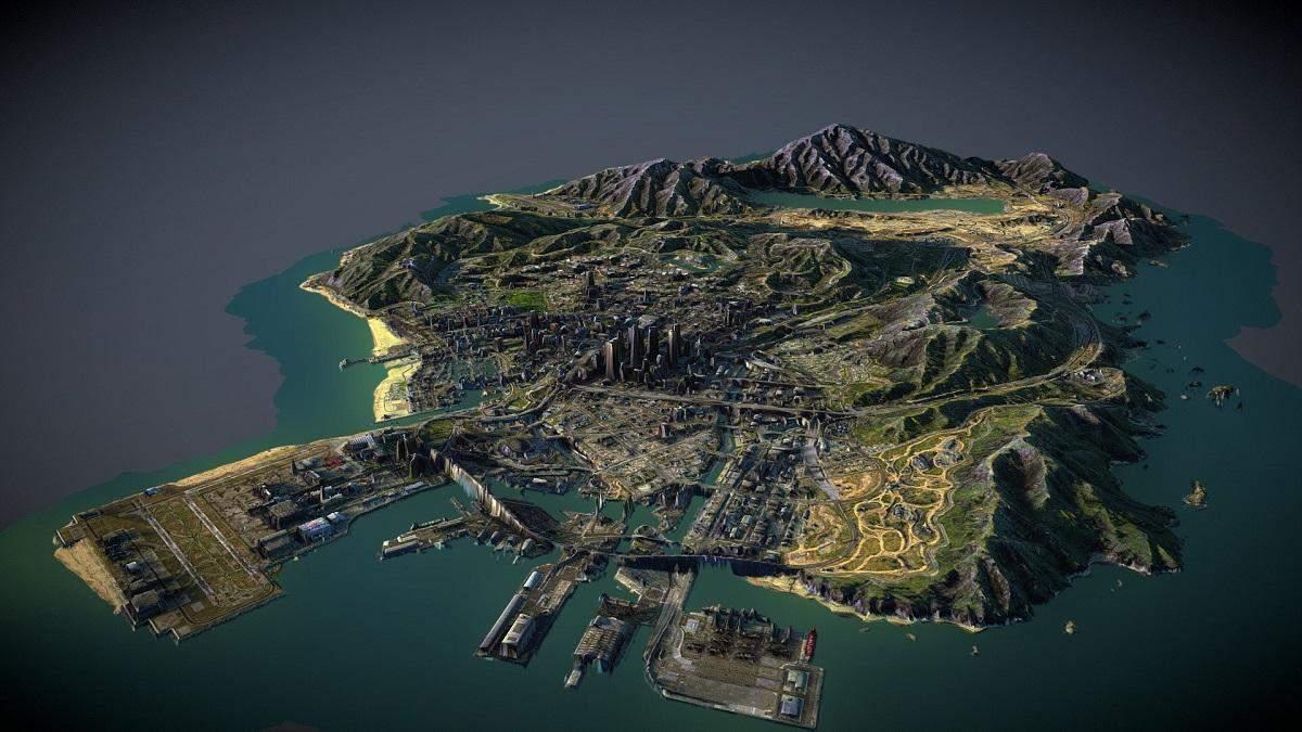 Дизайнер надрукував 3D-карту з локаціями з GTA V: скільки часу йому знадобилося