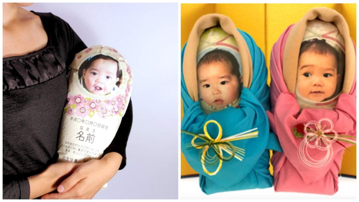 Пакет для объятий: в Японии семьи присылают родственникам рисовые мешочки вместо новорожденных