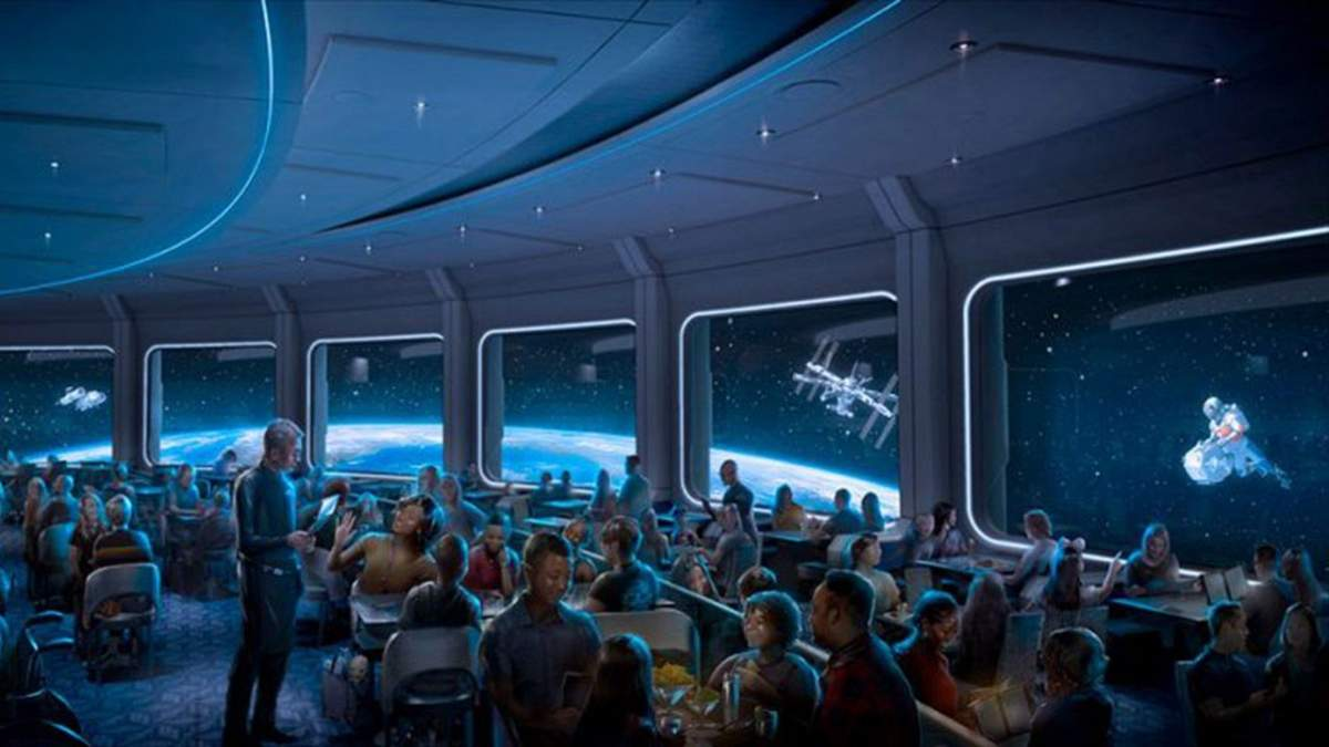 Обед на орбите: Disney открывает космический ресторан Space 220 – увлекательный видеотур - Развлечения