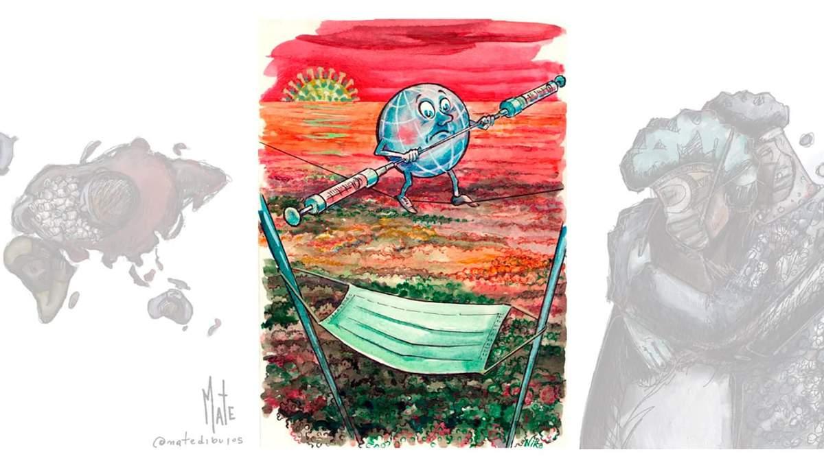 Український художник переміг на міжнародному конкурсі карикатур про коронавірус - Новини Луцька сьогодні - Розваги