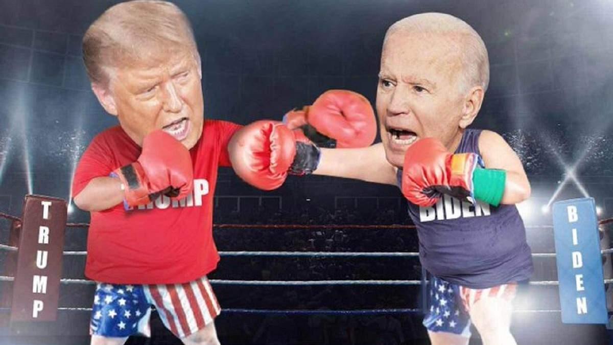 """Трамп заявил, что нокаутирует Байдена """"за секунды"""" на боксерском ринге: сеть взорвалась мемами"""