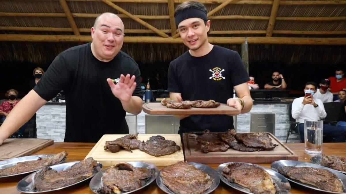 Блогер за 5 хвилин з'їв 3,5 кілограма стейків на 8 000 доларів: вражаюче відео - Розваги