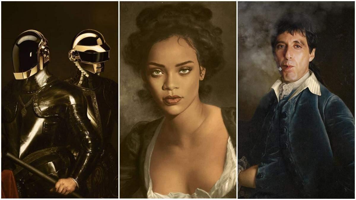 Рианна и Бейонсе: художник превращает современных знаменитостей в героев классических картин - Развлечения