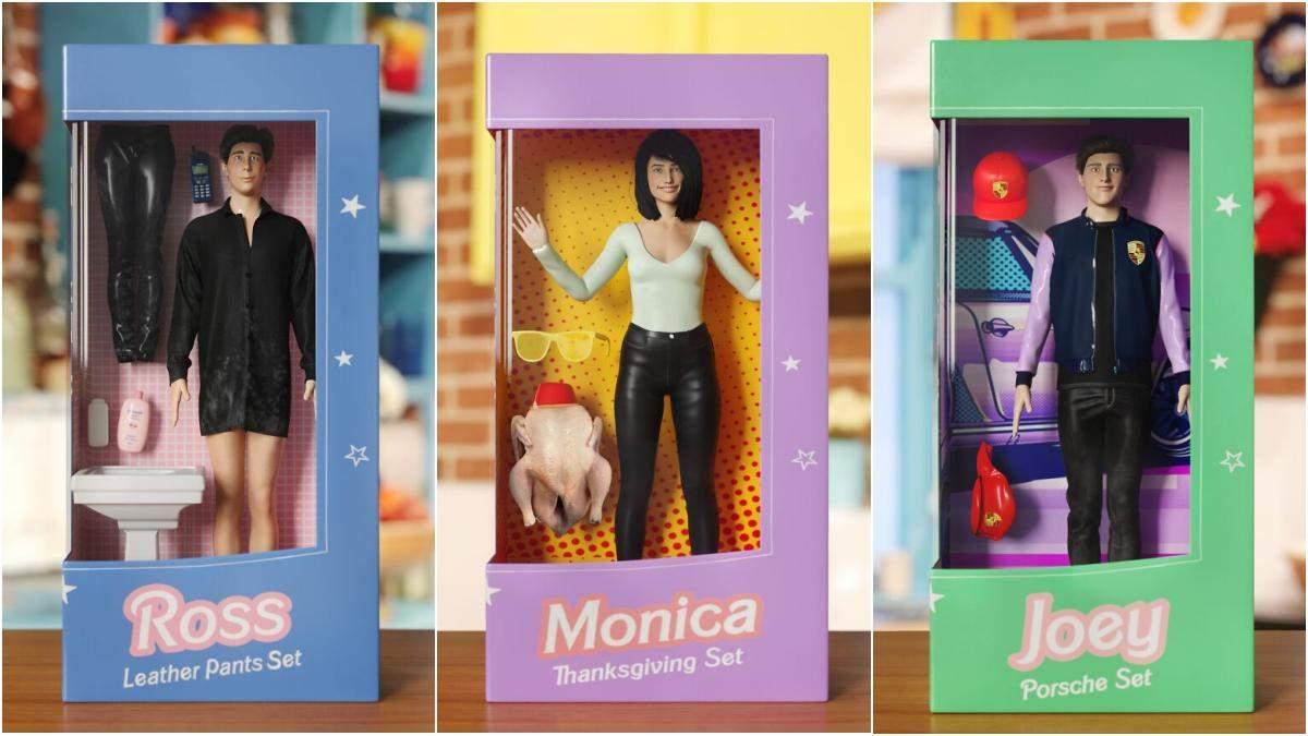 """У легендарних образах: якими могли б бути набори ляльок Барбі за мотивами серіалу """"Друзів"""" - Розваги"""