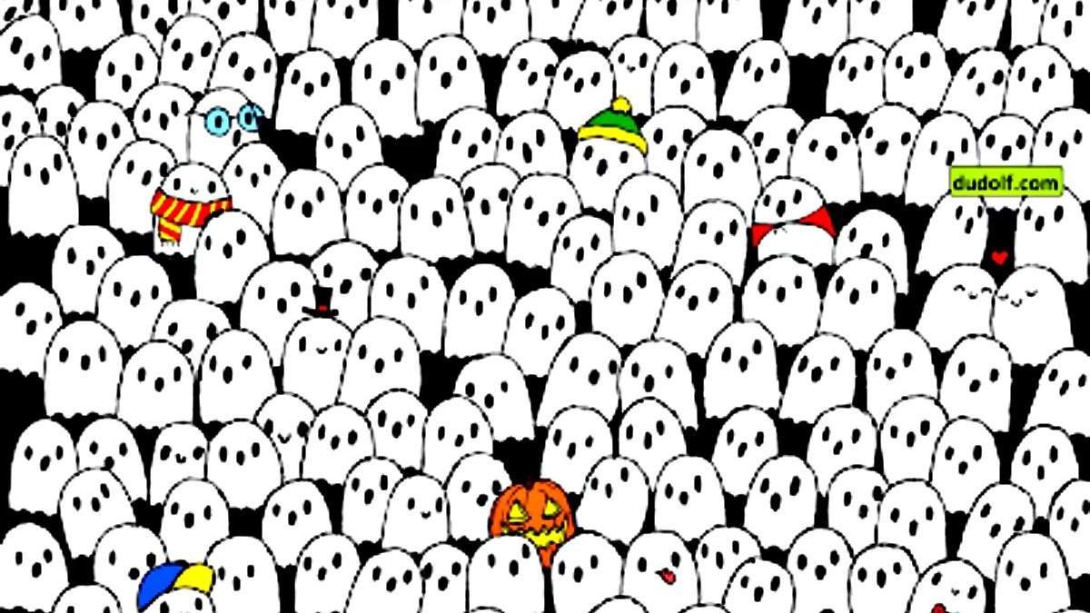Головоломка недели: только самые внимательные найдут панду посреди привидений - Развлечения