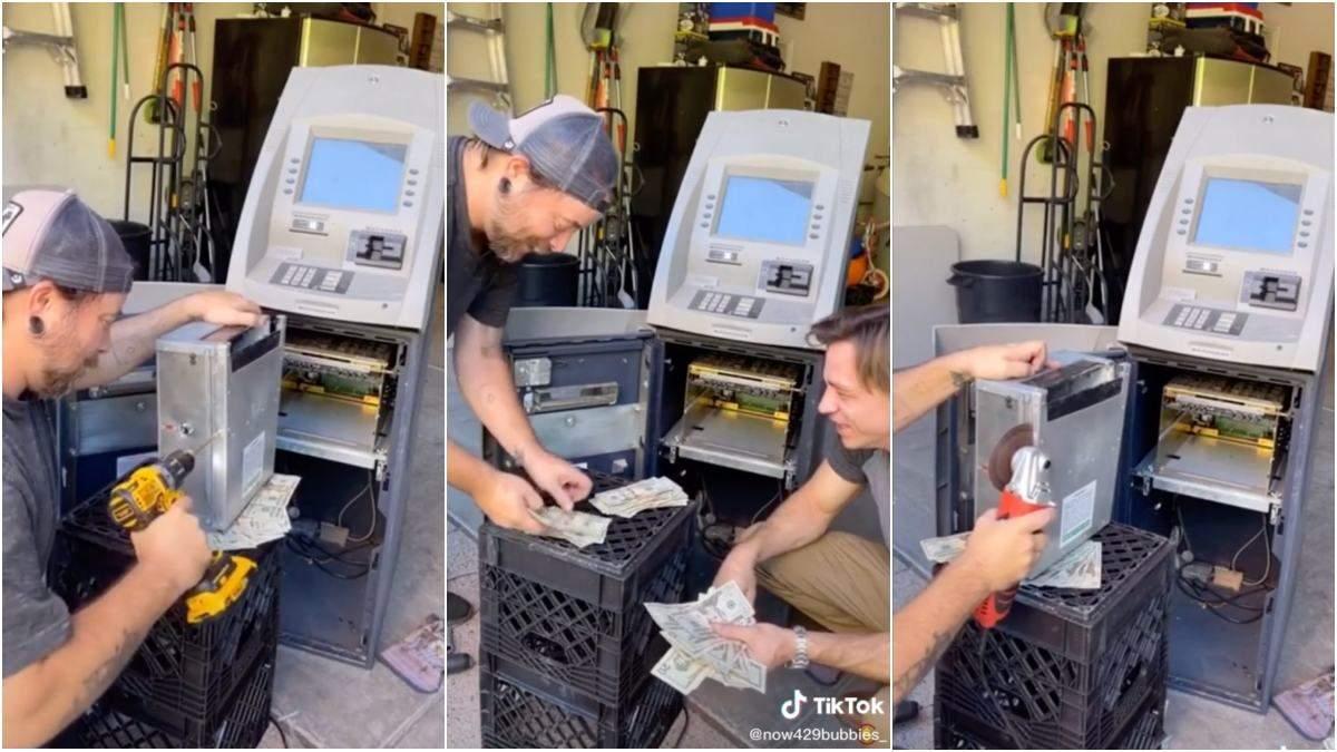 Окупили сполна: друзья приобрели старый списанный банкомат, и нашли в нем много денег - Развлечения