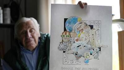 Пенсіонер намалював 365 картин за рік, щоб не нудьгувати у будинку пристарілих: фото