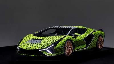 В полном размере: суперкар Lamborghini Sian воссоздали из кубиков Lego – фото, видео