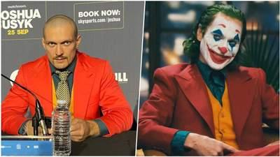 Александр Усик появился на пресс-конференции с Джошуа в костюме Джокера: смешное сравнение