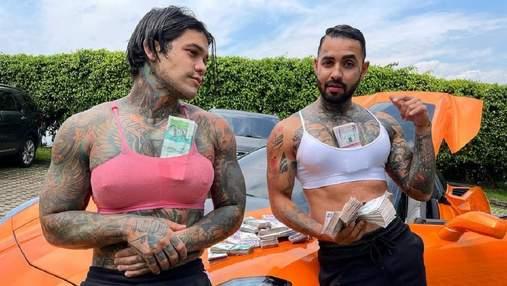 Двоє колумбійців збільшили собі груди заради розваги: фото, відео