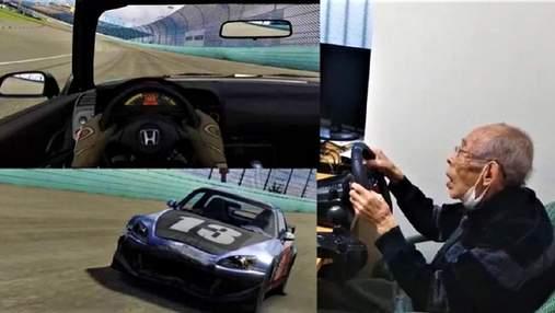 Досвічений гонщик: 93-річний дідусь став геймером і підкорює віртуальні траси – відео