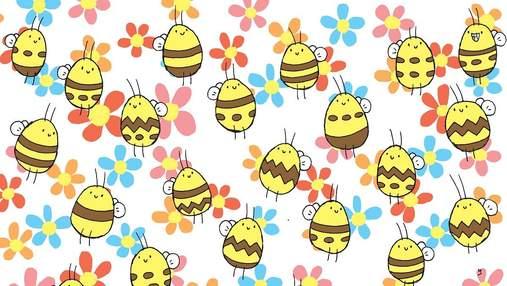 Головоломка недели: задача – найти пчелу с уникальным узором