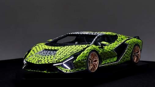 У повному розмірі: суперкар Lamborghini Sian відтворили з кубиків Lego – фото, відео