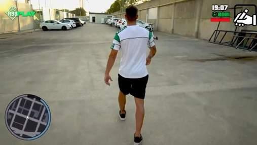 Сняли пародию на серию GTA: футбольный клуб необычным образом представил нового игрока