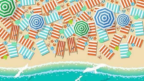 Головоломка тижня: 80 секунд на те, щоб знайти босоніжки на заповненому пляжі