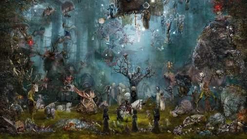 Художник нарисовал впечатляющую картину по мотивам игры о Ведьмаке: ее оценили в 20 000 долларов