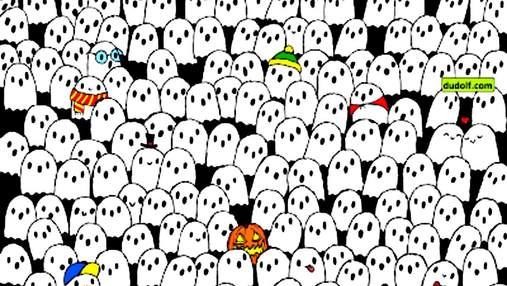 Головоломка недели: только самые внимательные найдут панду посреди привидений